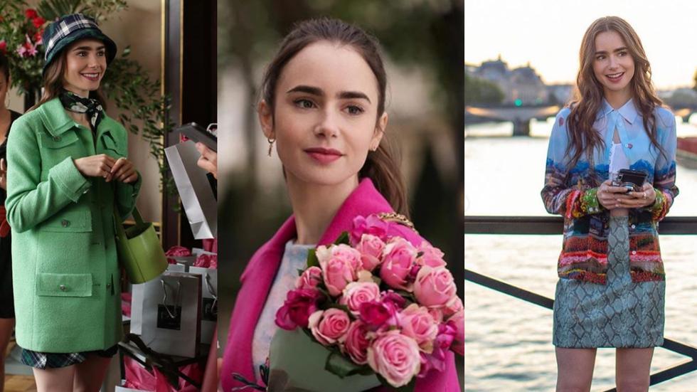 """Recorre la galería y descubre 5 looks que amamos de la serie """"Emily in Paris"""", el nuevo éxito de Netflix. (Imágenes: Instagram @lofficielitalia/ @myfashion.muses/ @fustany)"""