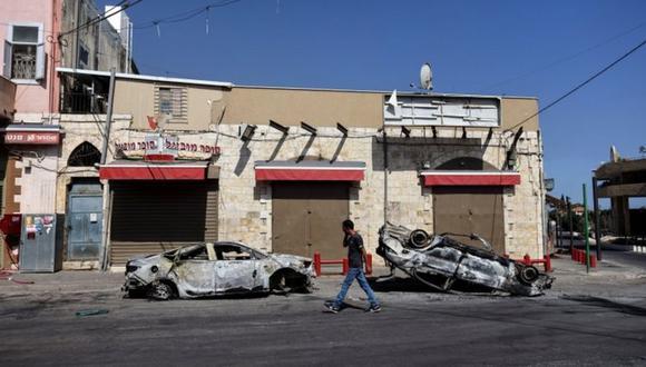 """En Lod, ha estallado """"una guerra civil"""", advirtió su alcalde. (Reuters)."""