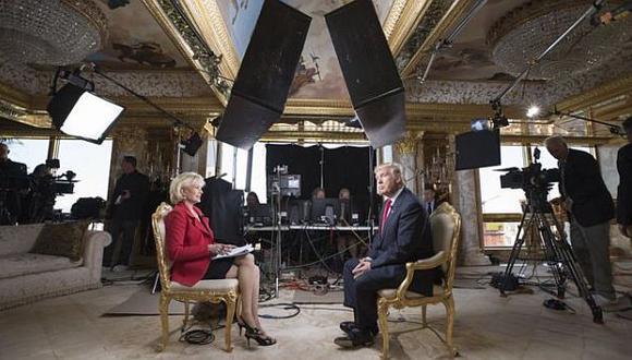 La presentadora Lesley Stahl entrevistó al presidente electo en su casa, tras el triunfo electoral de la semana pasada. (Foto: AP)