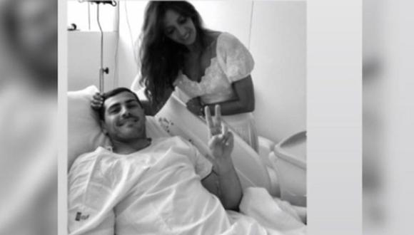 Iker Casillas sufrió paro cardíaco el último miércoles, del cual salió bien librado. Sara Carbonero, su esposa, se manifestó mediante las redes sociales con un emotivo mensaje (Foto: Instagram)