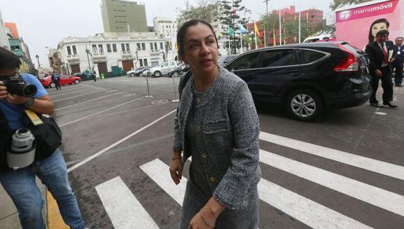 La congresista Marisol Espinoza declaró hoy ante la Comisión de Fiscalización por la investigación que le sigue a Nadine Heredia. (Foto: Miguel Bellido)
