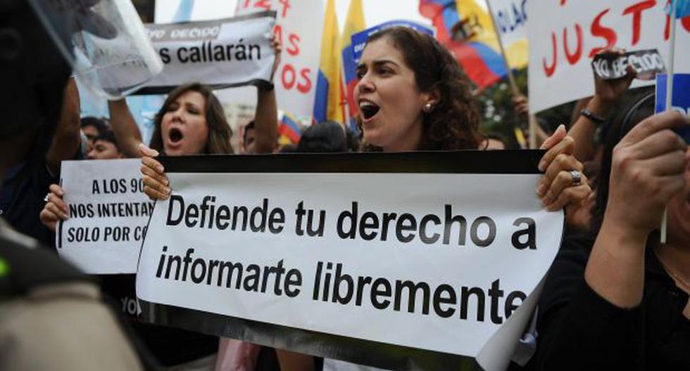 Los ataques a la libertad de prensa son cada vez más comunes. En Ecuador, el gobierno de Rafael Correa fue especialmente duro con los medios de comunicación. (Foto: AFP)