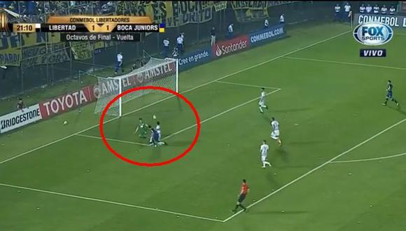 Boca Juniors vs. Libertad: el golazo de Mauro Zárate para el 2-1 en Paraguay. (Foto: captura)