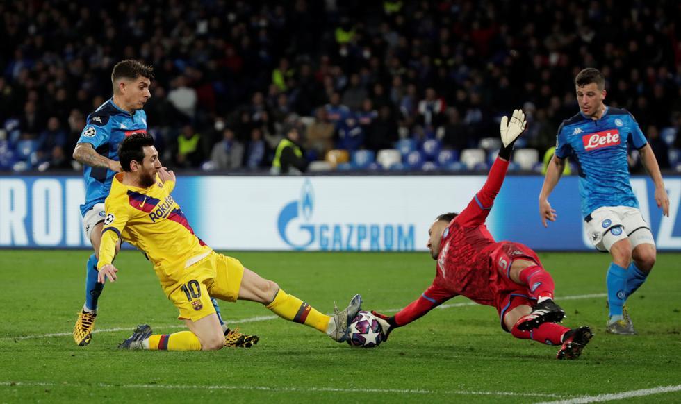 Barcelona vs. Napoli: alineaciones