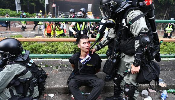 Hong Kong es escenario de un gran movimiento de protesta que empezó en junio como rechazo a un proyecto de ley, luego abandonado, que iba a autorizar las extradiciones a la China continental. (AFP)