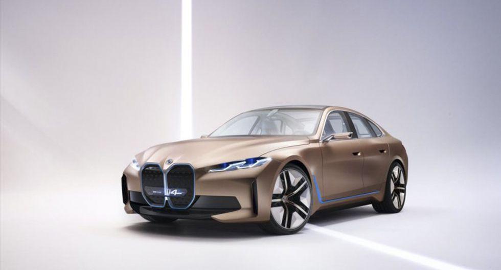 2. BMW i4 Concept. La compañía alemana preparó para este evento el lanzamiento de su primer gran coupé eléctrico, con unos 530 caballos de potencia y la novedad de ofrecer 600 km de autonomía.