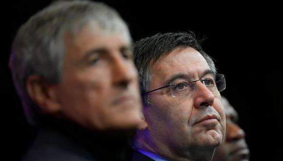 Quique Setién asumió el puesto de entrenador del Barcelona en enero del 2020. (Foto: AFP)