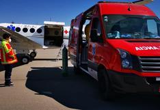 Huancavelica: médica delicada por COVID-19 abordó avioneta y fue trasladada a Lima