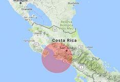 Sismo de magnitud 5,7 sacude el sur de Costa Rica