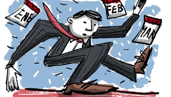 """""""En algún momento de marzo, las preferencias y los rechazos llevarán a sacar cabeza a dos o tres candidatos, tal vez incluso alguno que hoy está abajo"""". (Ilustración: Giovanni Tazza)."""