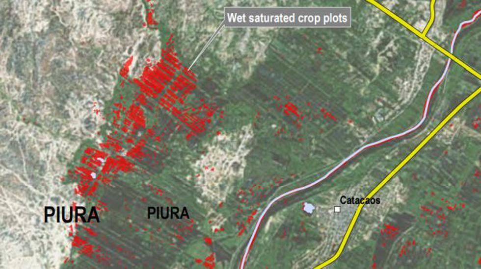 Satélite canadiense registró impactante foto de Piura inundada - 1