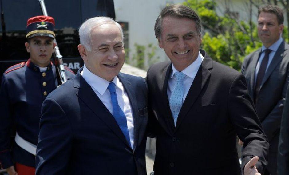 El primer ministro de Israel,Benjamin Netanyahu, junto al mandatario electo de Brasil, Jair Bolsonaro.(Foto: EFE)