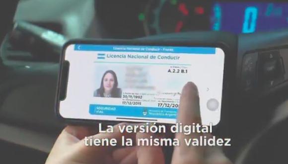 La licencia, que solo tiene un alcance nacional y no tiene costo adicional, es complementaria al carnet físico. (Foto: Captura)