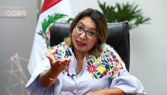 Rocío Barrios, titular del Ministerio de la Producción. (Foto: Alessandro Currarino / GEC)
