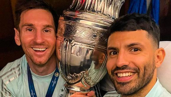 Messi y Agüero fueron campeones de la Copa América y esperan jugar juntos en el Barcelona. (Foto: FC Barcelona)