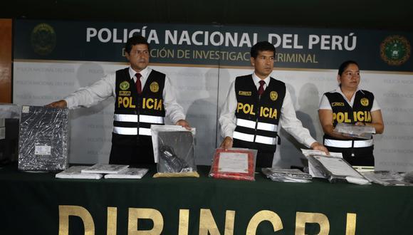 La policía mostró los resultados de la operación Children Porn-2019. (Foto: Joseph Ángeles)