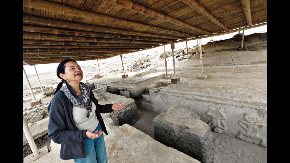 La arqueóloga Ruth Shady en Vichama. Las excavaciones en la costa central han revelado cómo influyó el clima en las sociedades pre-hispánicas.
