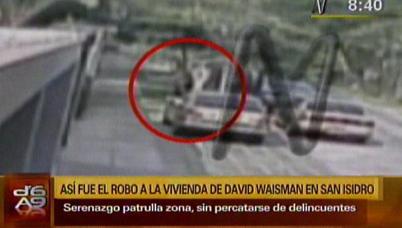David Waisman: cámara captó asalto a su vivienda en San Isidro