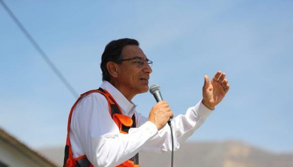 Martín Vizcarra participó en la inauguración de la carretera La Jalca- Nueva Esperanza en Chachapoyas, región Amazonas. (Foto: GEC)