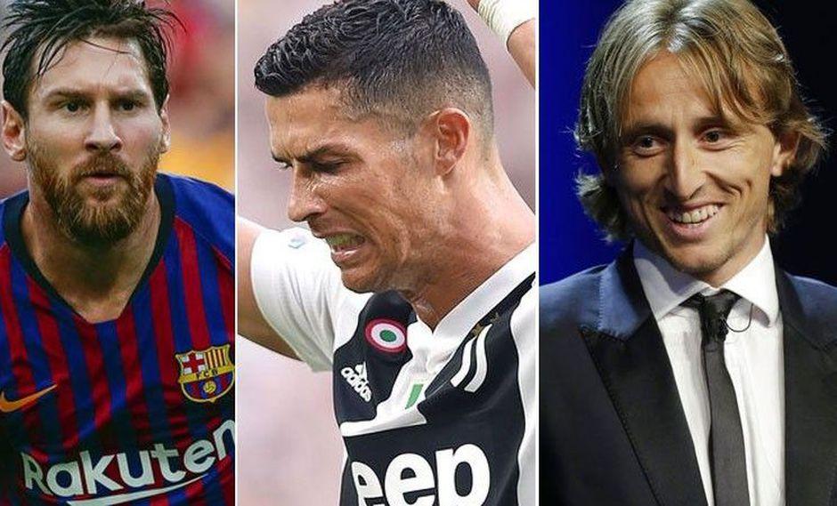 Cristiano Ronaldo y Lionel Messi fueron criticados por Luka Modric por faltar a la gala del Balón de Oro. (Foto: AFP)