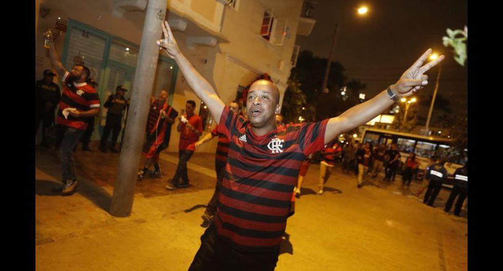 El festejo de los hinchas del Flamengo tras el título de la Copa Libertadores 2019.  (Cesar Campos / GEC)