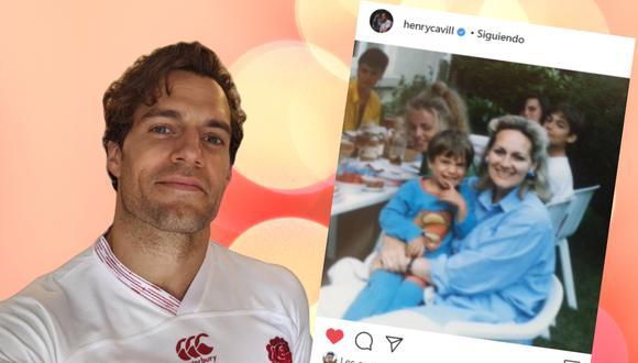 Henry Cavill dedicó unas emotivas palabras a su madre por motivo del Día Internacional de la Mujer adjuntando una foto de su infancia. | Crédito: @henrycavill / Instagram / Composición