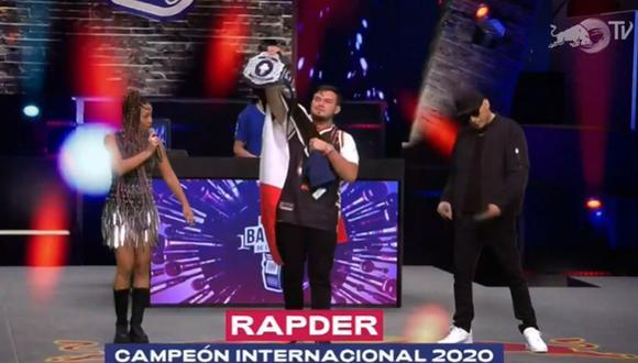 Rapder se consagró campeón de la final tras vencer a Skone. (Foto: Captura de video)