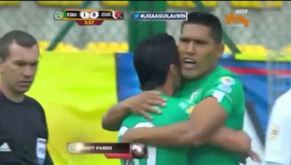 Andy Pando marcó hat trick en triunfo de La Equidad en Colombia