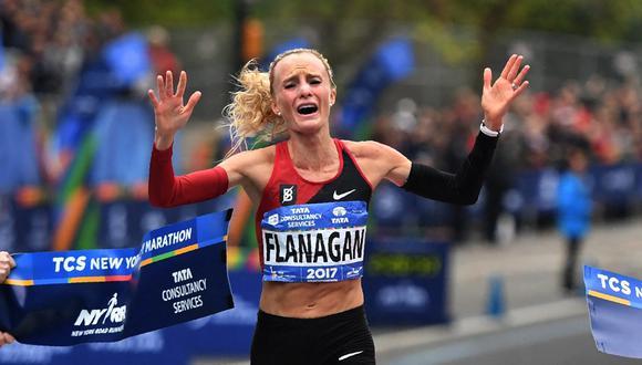Shalane Flanagan en la Maratón de Nueva York | Foto: AFP.