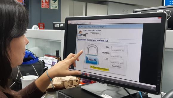 La Clave SOL permite emitir recibos por honorarios, emitir facturas electrónicas y muchos otros trámites. (Foto: GEC)
