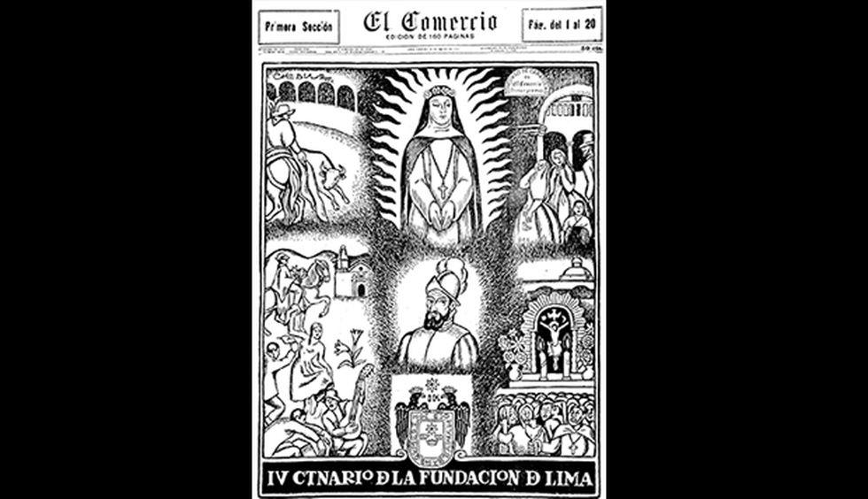 Primera plana del 18 de enero de 1935 cuando Lima celebraba el cuarto centenario de su fundación.
