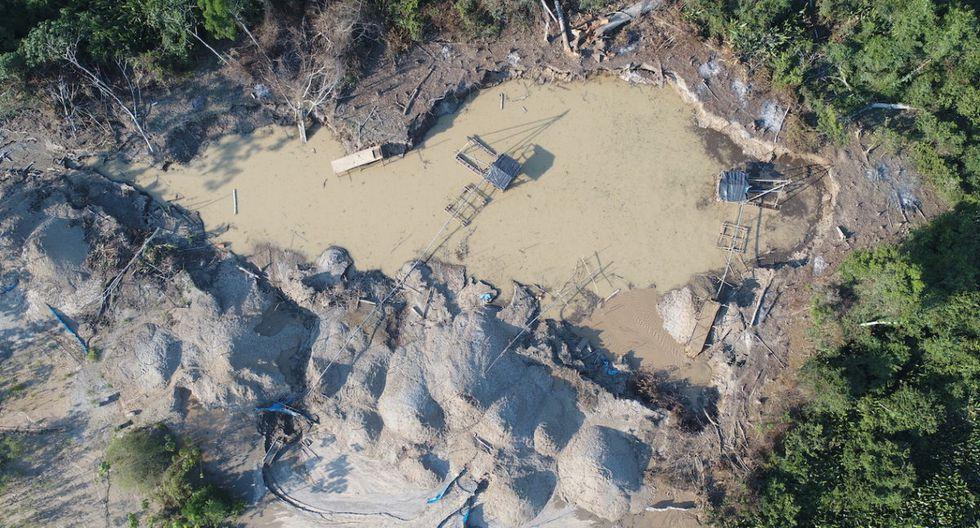 Imágenes de la minería ilegal detectada en junio de este año en la Concesión Forestal Maderable «Agrofocma». Foto: ACCA.