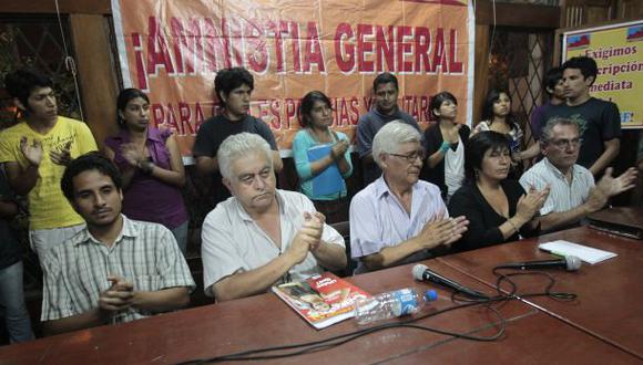 Movadef: excarcelados de SL recogieron firmas para inscripción
