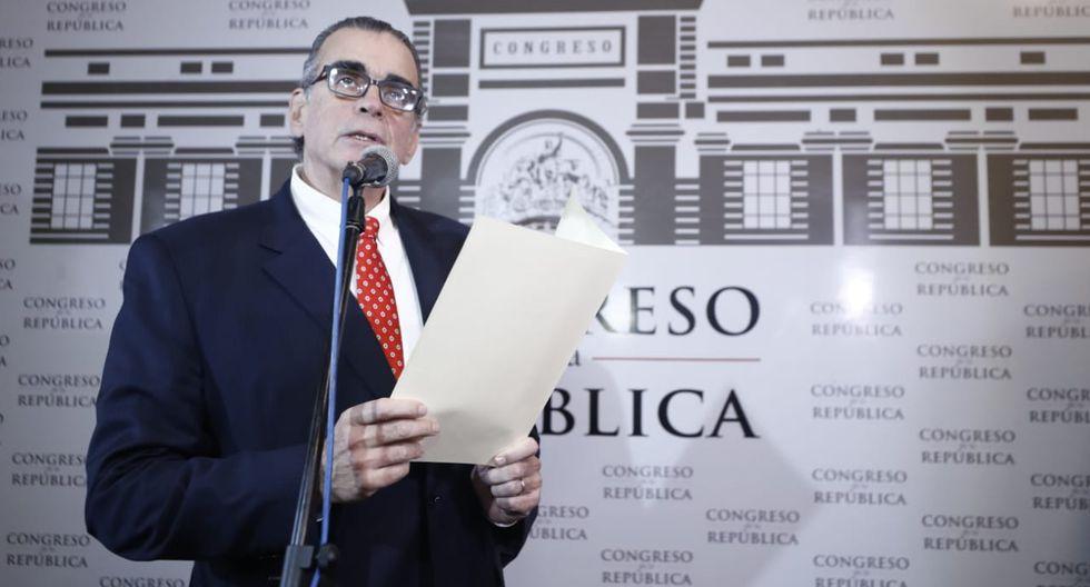 El presidente del Congreso, Pedro Olaechea, exhortó al presidente Martín Vizcarra a respetar agenda consensuada. (Foto: César Campos/ GEC)