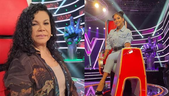 Ambas cantantes forman parte de los entrenadores de La Voz Senior (Foto: Instagram @evaayllonoficial y @danieladarcourtoficial)
