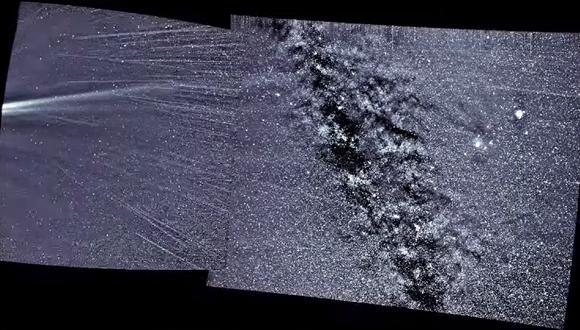 El viento solar se puede apreciar de izquierda a derecha. (Imagen: NASA/NAVAL RESEARCH LABORATORY/PARKER SOLAR PROBE)