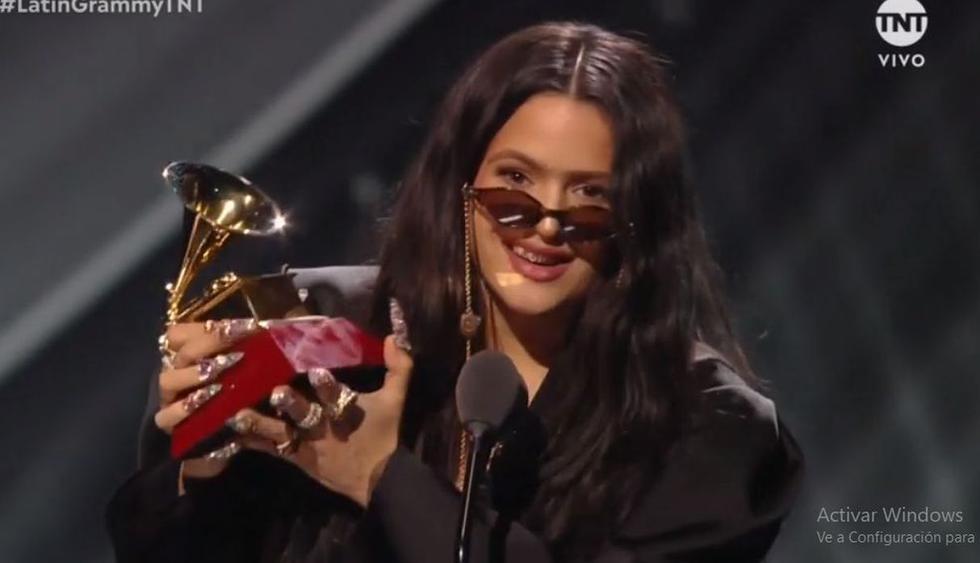 Rosalía se impuso a Tony Succar se alzó con premio en la categoría Álbum del Año de los Latin Grammy 2019. (Imagen: TNT)