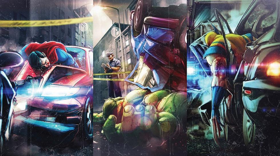 FOTOS: Los superheroes también sufren accidentes de transito  - 1