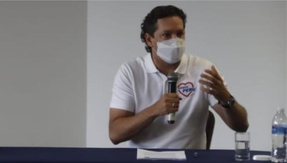 """""""Yo me hago respetar en cualquier circunstancia"""", dijo el postulante a la presidencia de Somos Perú. (Foto: GEC)"""