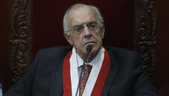 """""""Vizcarra ya no es presidente de la República, ahora tenemos a un hombre enterado como Francisco Sagasti presidiendo el Perú y ya no hay nada que hacer, hay sustracción de la materia"""", sostuvo Augusto Ferrero. (Foto: Mario Zapata/ GEC)"""