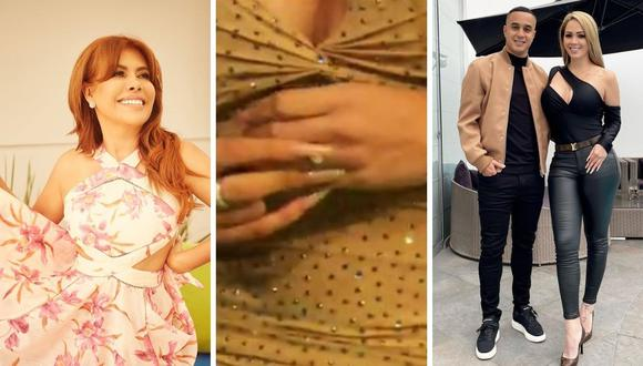 Magaly Medina cuestionó a Melissa Klug por no querer mostrar su anillo de compromiso a las cámaras. (Foto: Instagram / captura ATV)
