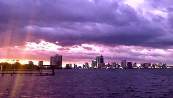 Inusual fenómeno se registró tras el paso del huracán Dorian. (Foto: News 4JAX)