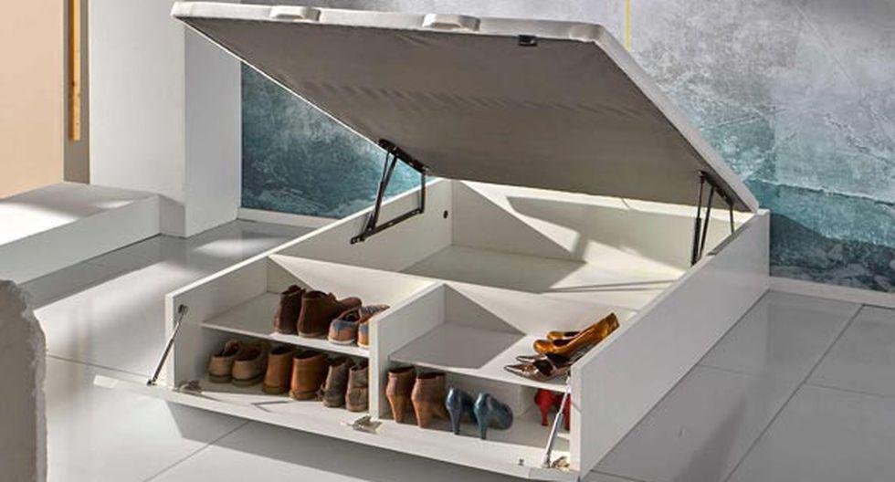 Inclínate por camas que tengan organizadores en la parte baja. También puedes colocar separadores de  madera debajo de este mueble. De ConfortOnline (España).