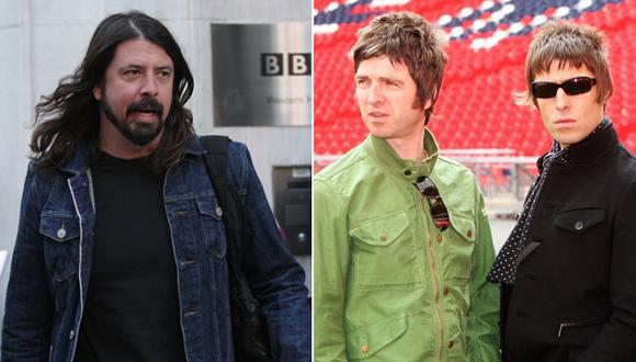 """Dave Grohl: """"Oasis es la banda más grande que vi en mi vida"""""""