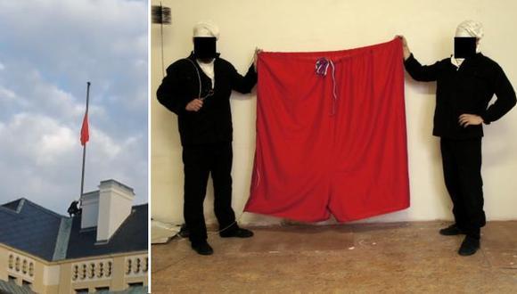 República Checa: Cambian bandera presidencial por calzoncillo