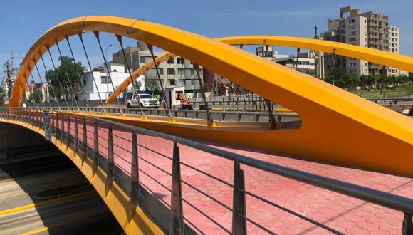 El puente Junín se encuentra ubicado a la altura de la cuadra 45 de la Av. Paseo de la República. (Claudia Sovero)