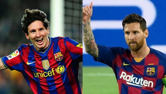 ¿El rendimiento de Lionel Messi ha bajado con los años? (Fotos: EFE/AFP)