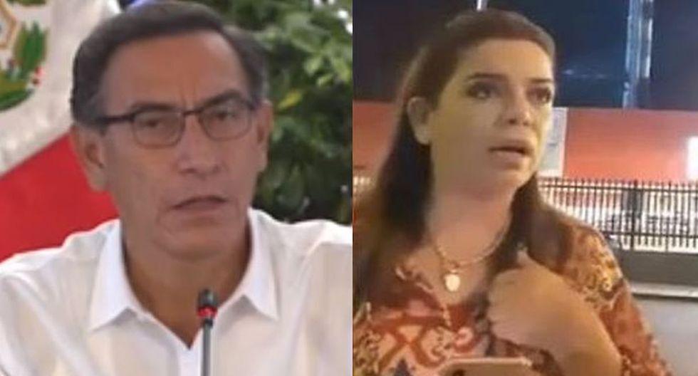 ¿Martín Vizcarra le envía indirecta a la periodista en su conferencia de prensa? (Foto: Captura de video)