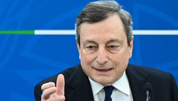 El primer ministro de Italia Mario Draghi. (ALBERTO PIZZOLI / POOL / AFP).