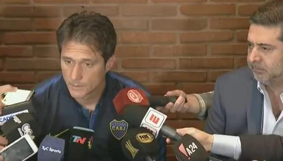 El responsable técnico de Boca Juniors aseguró que sus dirigidos no se encontraban en condiciones adecuadas para afrontar la final contra River Plate. (Foto: captura de video)